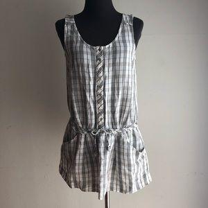 Zara sz S cute plaid tunic dress